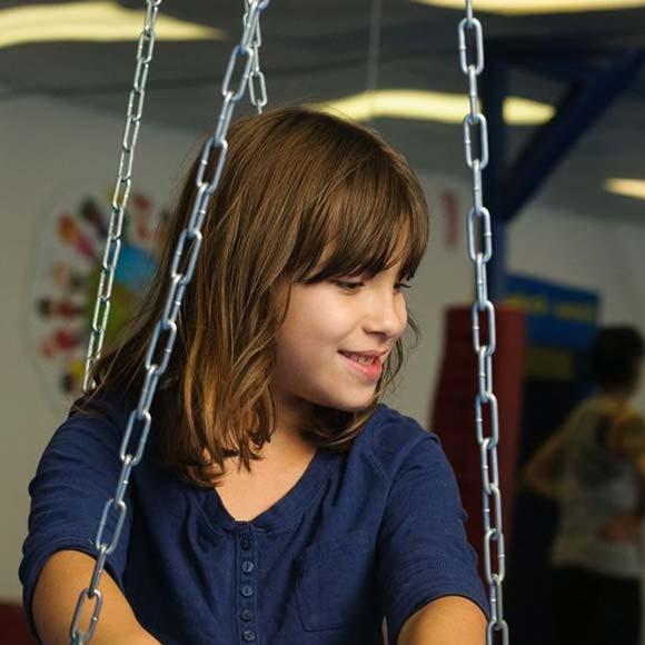 WRTS Edwardsville/ Sensory Safe Equipment/ Swing/ Girl On Swing