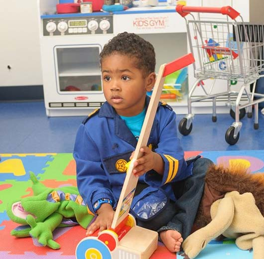 WRTS Edwardsville/ Sensory Safe Equipment/ Boy Playing with Toys