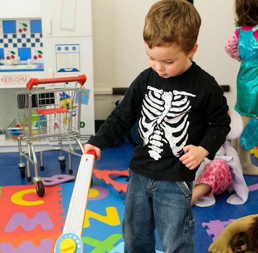 WRTS Edwardsville/ Sensory Safe Equipment/ Boy Playing with Toys