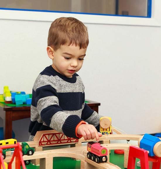 WRTS Edwardsville/ Sensory Safe Equipment/ Boy Playing/ Railroad