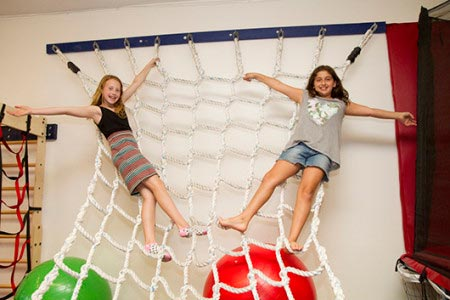 WRTS Edwardsville/ Sensory Safe Equipment/ Rope Climb/ Girls Playing